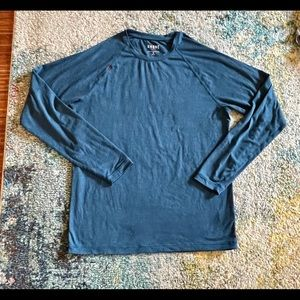 Rhone long sleeve tee blue size medium in VGUC